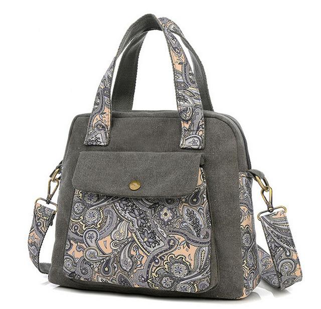 Yogodlns 2017 New Retro women's handbag canvas flower bag women messenger bags fashion shoulder Crossbody bag bolsa feminina