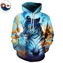 Rüya tarafından JoJoesart kaplan 3D Hoodies kazak erkekler kadınlar Hoodies moda Streetwear damla gemi kazak hayvan Hoodie ZOOTOP ayı