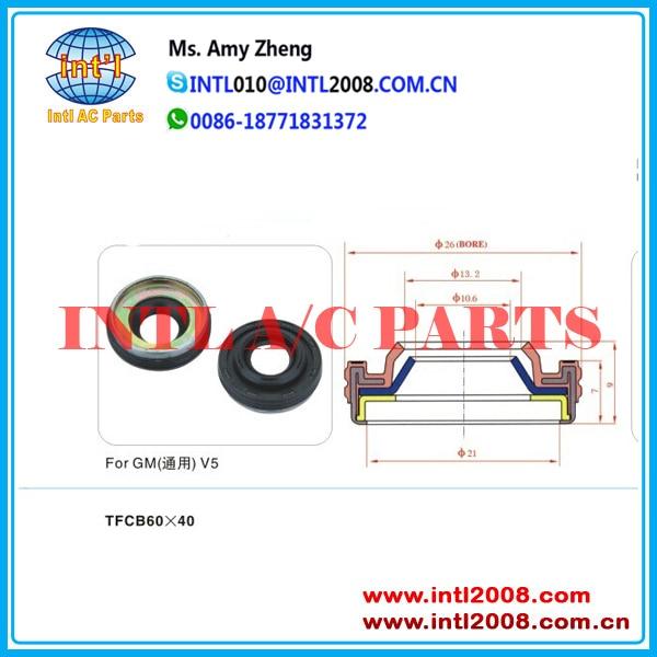 Auto AC Compressor pump seal oil shaft seal lip seal for GM V5
