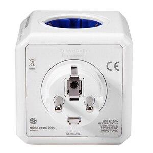Image 4 - Allocacoc ab tak Powercube elektrikli USB priz ab tak güç şeridi çoklu uzatma soketi adaptörü seyahat adaptörü akıllı ev kullanımı