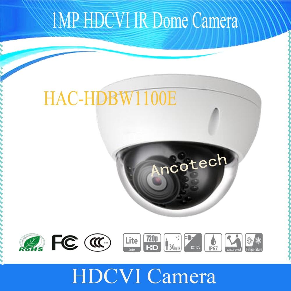 Free Shipping DAHUA CCTV 1MP 720P HDCVI IR Dome Camera IP67 IK10 Smart IR Without Logo HAC-HDBW1100E dahua 2 1mp 1080p vandal proof wdr ir hdcvi mini dome camera ip67 ik10 security cctv outdoor camera without logo hac hdbw2221e