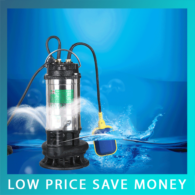 Submersible Dirty Water Pumps 750W Submersible Pump Waste Water Pump