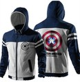 Cool Captain America Civil War Zip Up Sweatshirts Avengers Superheroes Hooded Clothes For Mens Wind Proof Hoodies For Youth