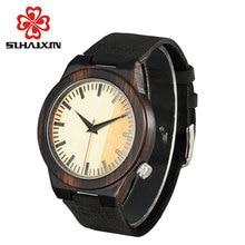 Wooden Couple Watch bracelet Men Leather Strap Luxury Brand Round Ladise Watches cheap Quartz Wristwatch Gift Box