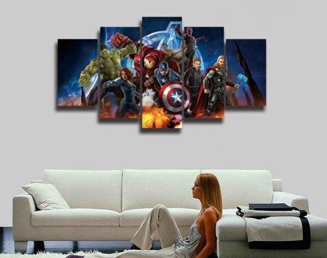 Cuadros HD vengadores super héroe Hulk Capitán América Iron Man ...