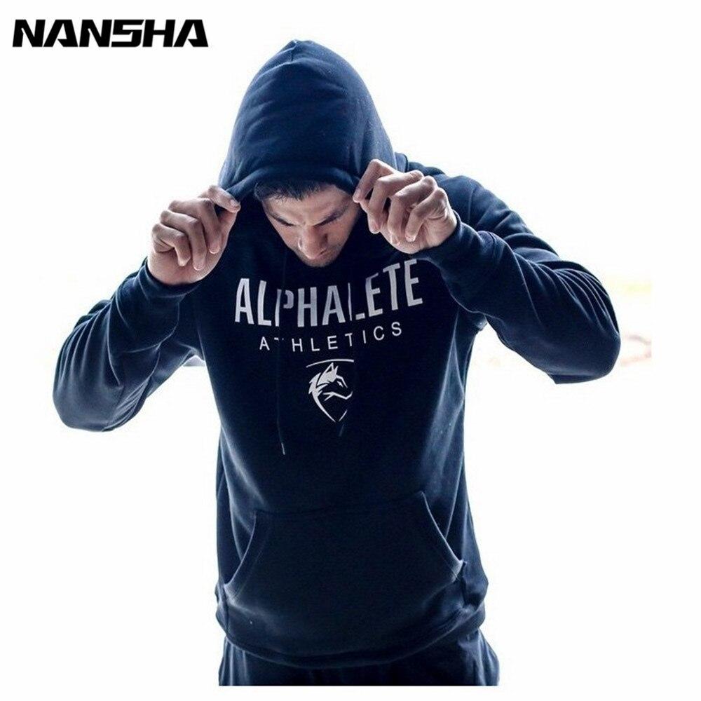 Nansha Men Gyms Hoodies Gyms Fitness Bodybuilding Sweatshirt Crossfit Pullover Sportswear Male Workout Hooded Jacket Clothing #2