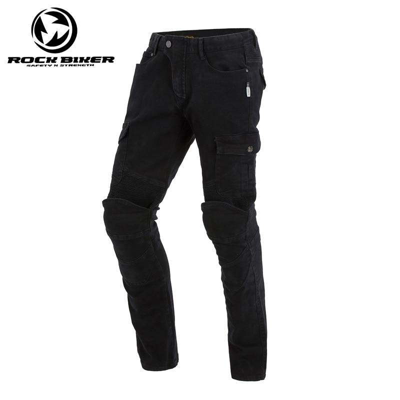 Man Slim Fit Motorcycle Jeans Knee Protective Moto Jeans Motorbike Racing Pants Women trousers have CE protectors Black цена