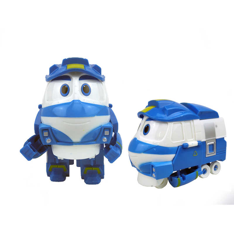12cm Robot Trains Transformation Kay Alf Dynamic Train Family Deformation Train Car Action Figure Toys Doll for Kids Boy Gift