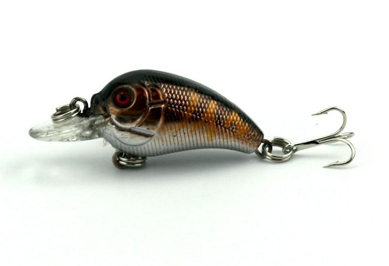 1x 4.5cm 4.2g Mini Fishing Lures Crank Baits 3d Fish Eye Simulation Minnow Crankbait Hard Plastic Laser Lure Bait Low Price (12)