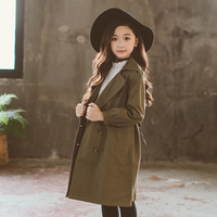2019 Trench For Children Spring Girls Trench Coat Windbreaker Teen Big Girls Jacket For A Teenager Kids Clothes 5 6 7 8 9 10 12