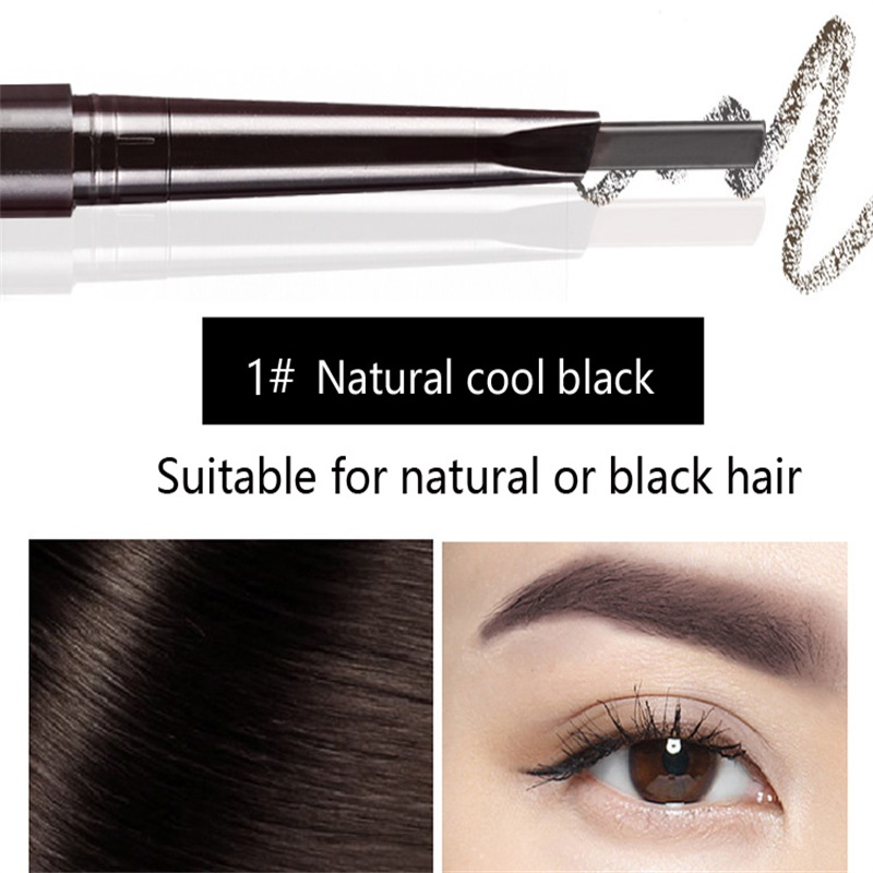 Hot Sale Eyebrow Automatic Tattoo Pen Waterproof Eye Makeup 5colors Easy Use Eyebrow Pencil Eyebrow #01 natural cool black 2