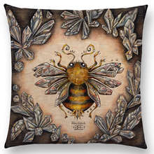 Classic Retro Magical Animals Cool Bird Blue Whale Hedgehog Moonlight Owl Bat Bee Octopus Cushion Sofa Throw Pillow