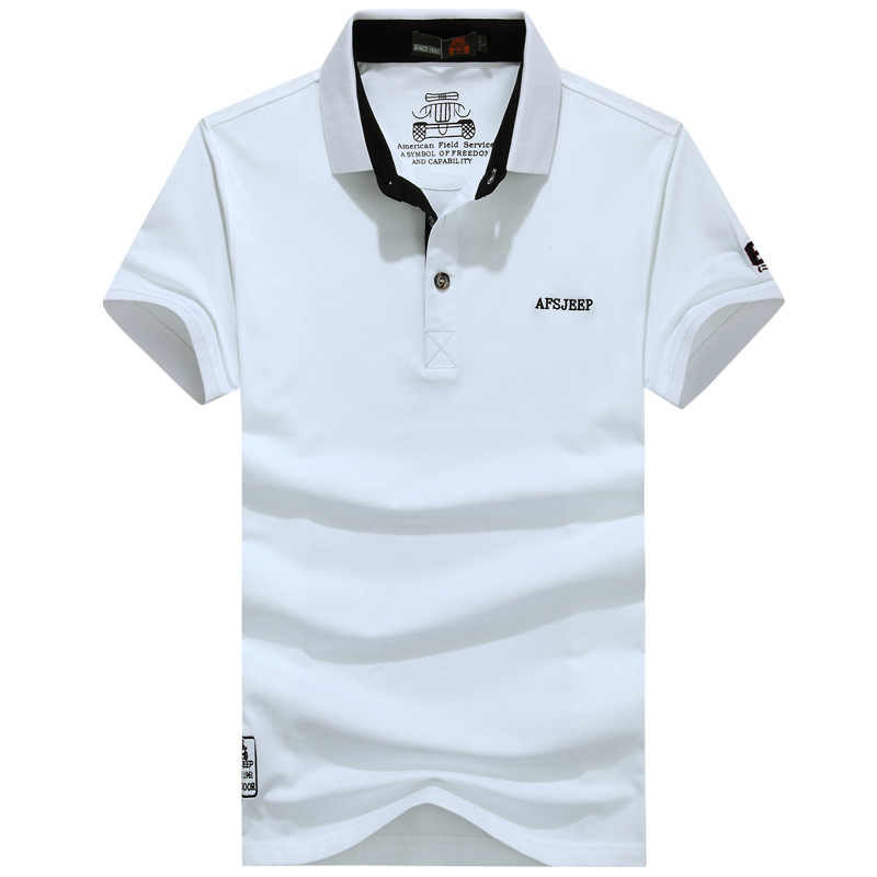 AFS JEEP Brand Polo Shirt Men Summer Breathable Cotton Military Polos para hombre Plus SIze M-3XL Camisa Polo Masculina