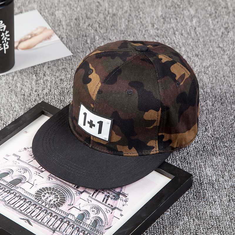 New Pattern Camouflage Hip Hop Hat Male Ma'am Fashion Leisure Time Outdoors Dome Personality Baseball Cap Tide bone casquette