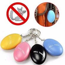 10pcs Self Defense Alarm 120dB Egg Shape Girl Women Security Protect Alert Personal Safety Scream Loud Keychain Emergency Alarm