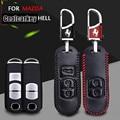2016 Fashion Car Smart Leather Key Case Cover KeyChain For Mazda 2 3 5 6 Cx-5 CX-7 Cx5  Interior Accessories Wallet Coolcarkey