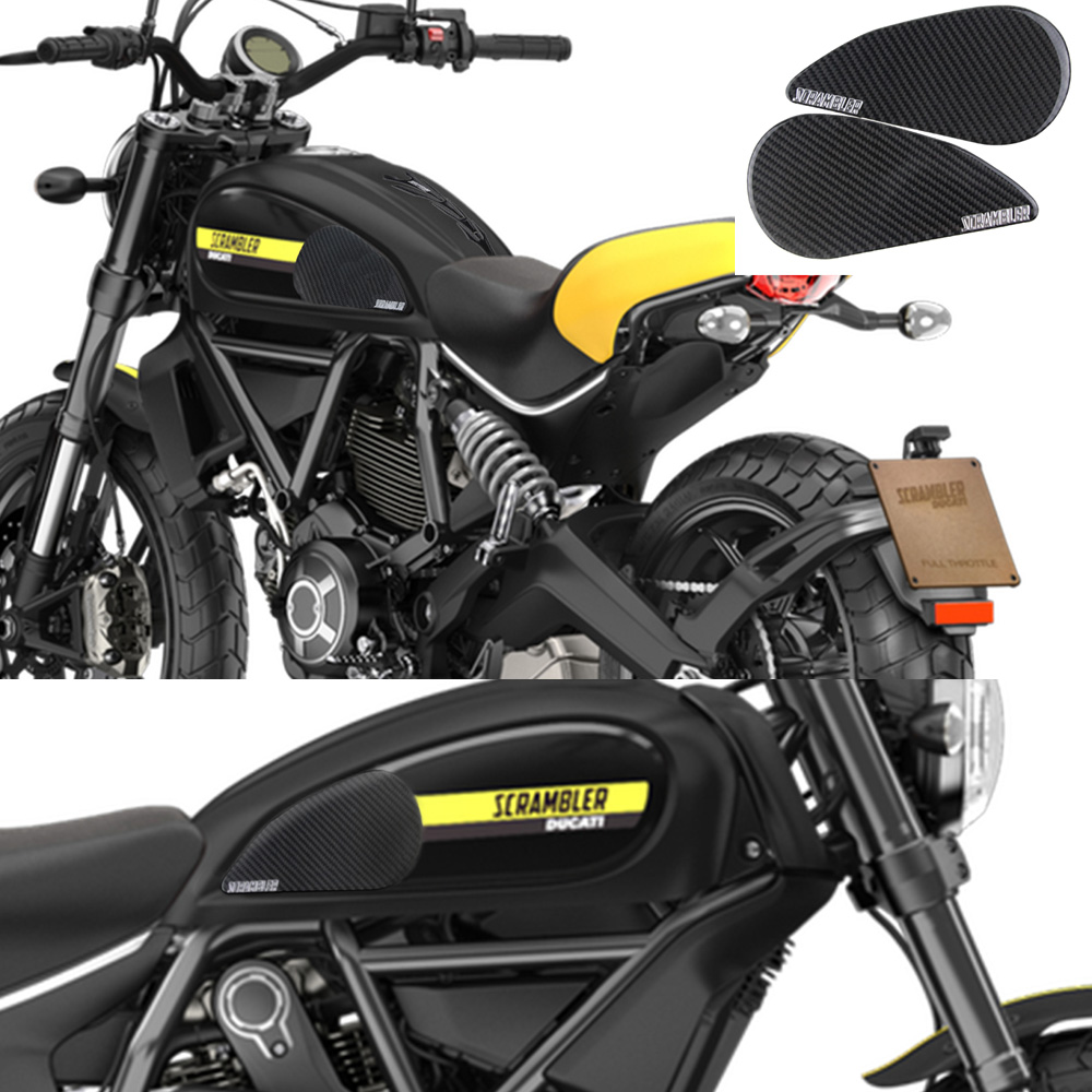 Us 5391 10 Offkodaskin Motorcycle 3d Carbon Tank Pad Sticker Decal Emblem Gripper Stomp Grips Easy For Ducati Scrambler In Decals Stickers From