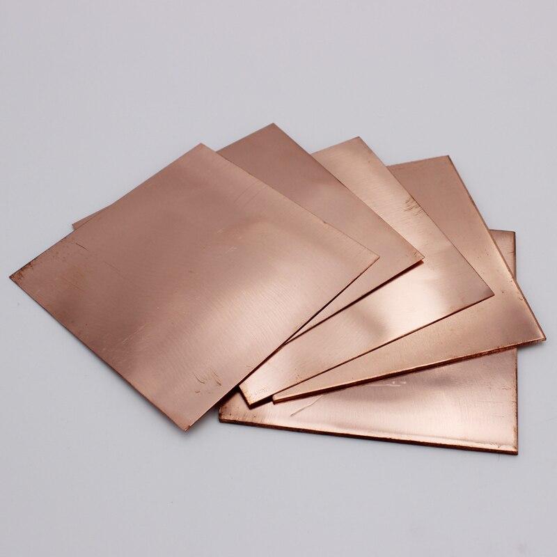 100mm X 100mm Thick 0.1mm 0.15mm 0.2mm 0.3mm 0.4mm 0.5mm 0.8mm 1mm 1.5mm 2mm 3mm 4mm 5mm 6mm Copper Sheet Plate