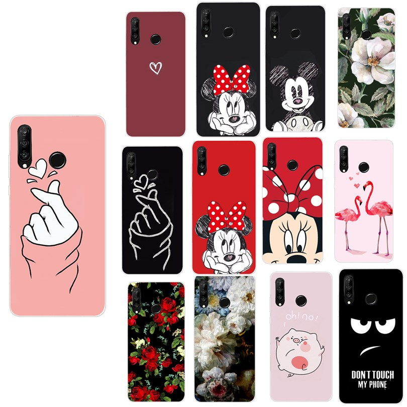 Cover For Huawei P30 Lite P30 Pro Phone Case Luxury Minnie Coque For Huawei Mate 10 Lite P10 P20 P30 Lite P Smart 2018 2019 Case