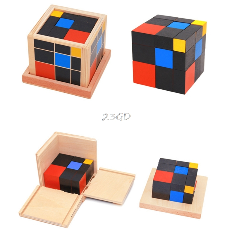 2017  Preety Early Learning Educational Toys Montessori Wooden Trinomial Cube For Toddlers  MAY2_35