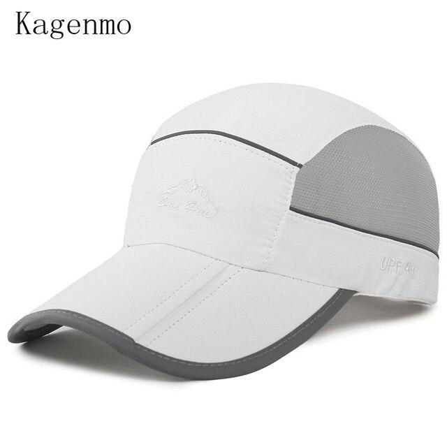a9b6d57f8dd Kagenmo Summer Fold Men Hat Outdoor Casual Fold Women Riding Baseball Cap  Sports Adjust Mesh Breathable