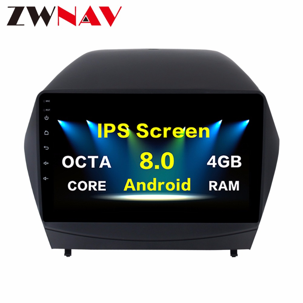 <font><b>10.2</b></font> inch RAM 4GB+32GB Octa Core <font><b>Android</b></font> <font><b>8.0</b></font> <font><b>CAR</b></font> DVD GPS Player For Hyundai IX35 2009 2010 2011-2015 <font><b>Stereo</b></font> Radio Satnav Unit image