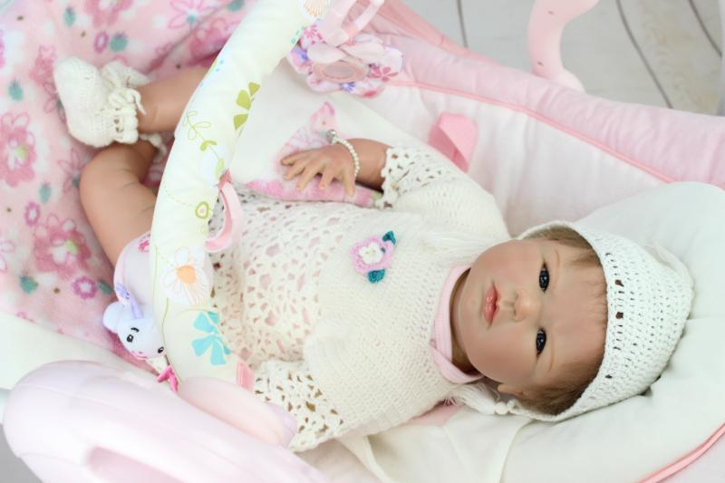 New arrival NPK reborn baby dolls soft silicone vinyl real gentle touch bebe new born Christmas Gift
