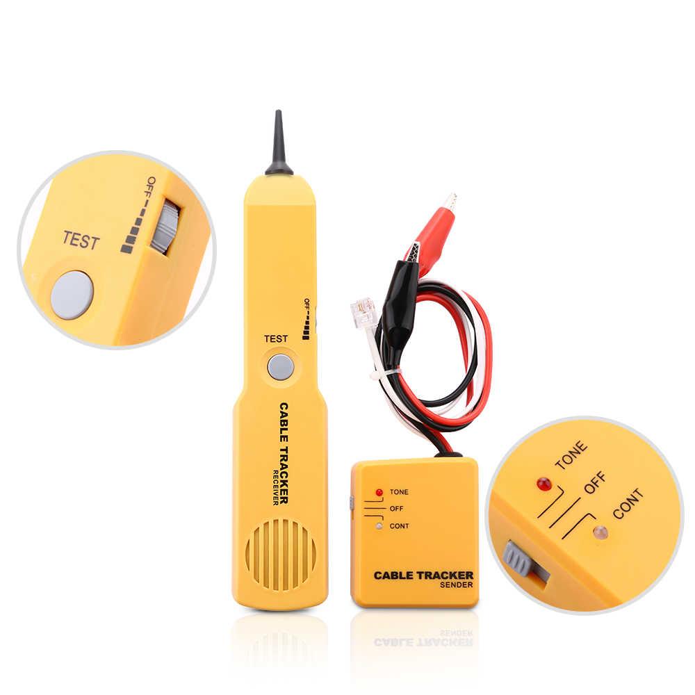 RJ11 Ağ Araçları Kiti Kablo Tracker Tel Test Cihazı Kablo Bulucu Toner Teşhis Tonu Telefon Hattı Bulucu Dedektörü