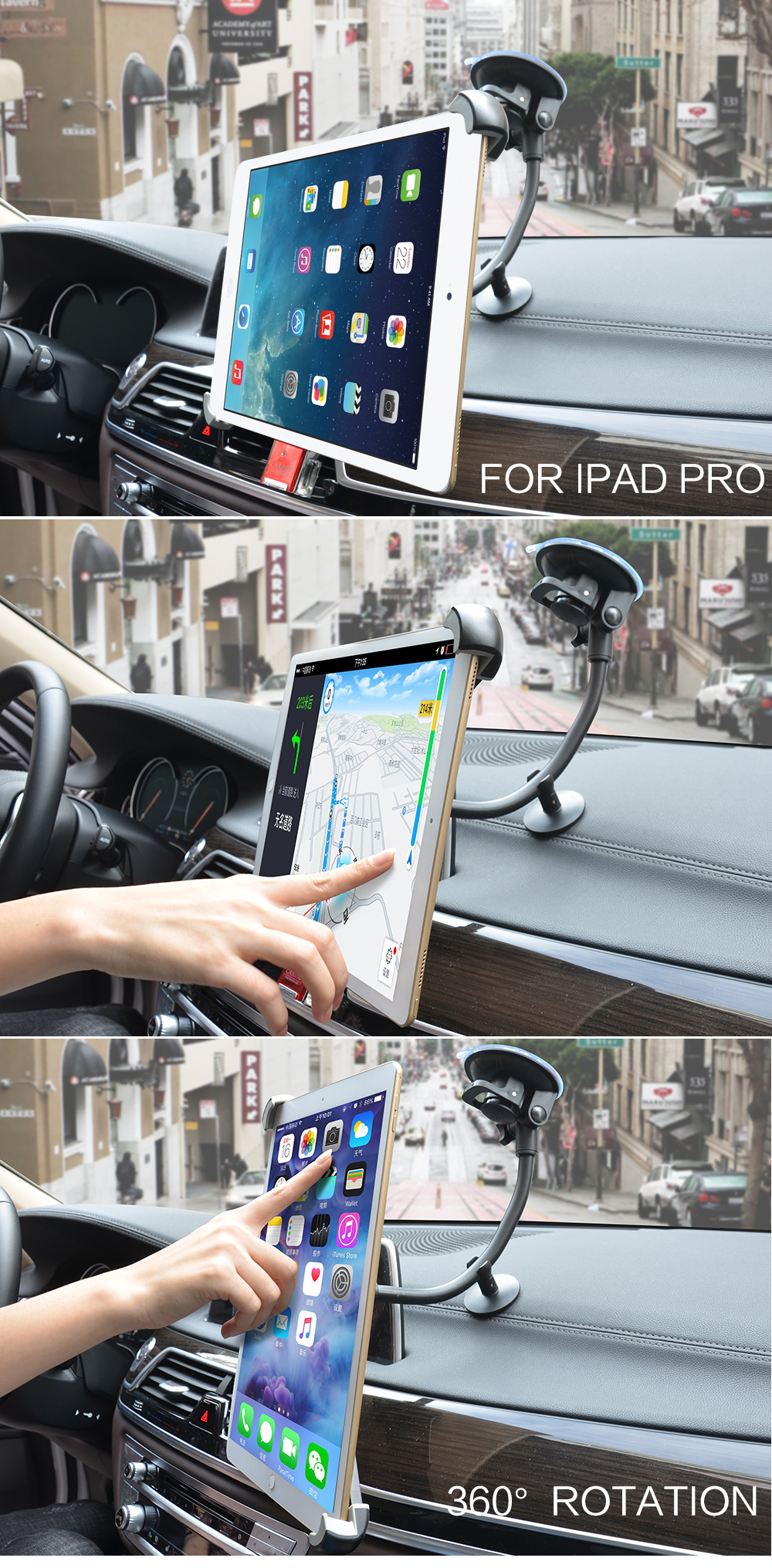 Universal Tab Car Holder Tablet Windshield Stand Mount Long Arm Support Holders 360 Rotation with 5 & 11 Holder for TabletUSD 8 99 13 49 piece