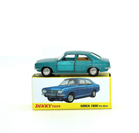 Dinky Toys Atlas 1409 1/43 SIMCA 1800 Pre serie Hot Alloy Diecast Car Model Collection Toys for Children Adult Wheels