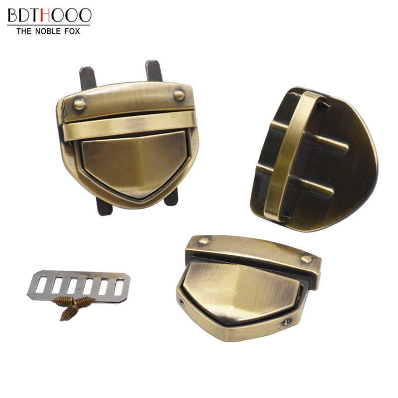 1pcs Metal Clasp Turn Lock Twist Lock For DIY Parts Women Bag Purse Hardware Closure Bag Accessories
