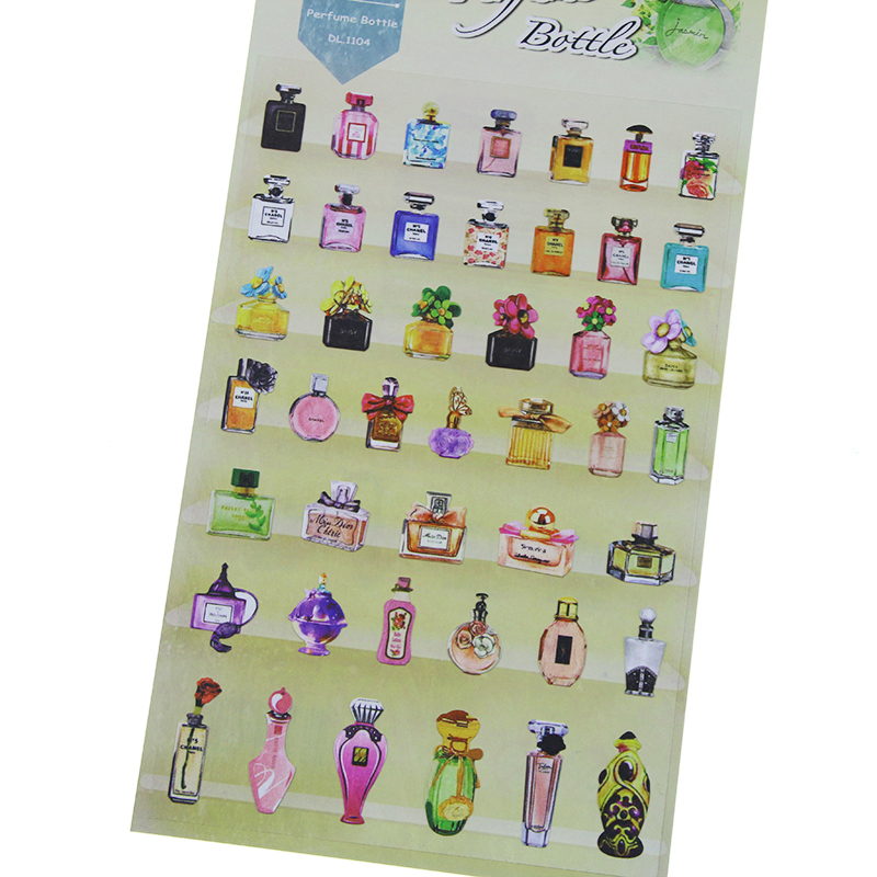 1 X Daisyland Perfume Bottle Adhesive Paper Sticker Decorative Diy Scrapbooking Planner Sticker Kawaii Stationery