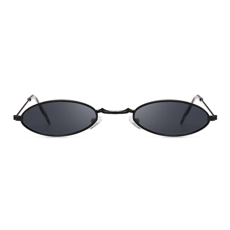 Retro Small Oval Sunglasses Women Female Vintage Hip Hop Balck Glasses Retro Sunglass Men Male Luxury