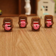 4 Pcs/set Hot Sale Domo Kun Resin Action Figure Model Toy Anime Love Domo Doll Ornament Collection Toy(China)