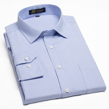 Oxford No-iron Men Dress Shirts For Work/Office Wear Classic Design Business