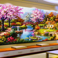 Dream Home 5D Diy Diamond Painting Full Round Embroidery Diamont Landscape Paintings Cross Stitch Kits Home