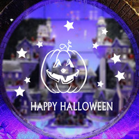 Aw9429 Happy Halloween Night Custom Pumpkin Poster Home Bedroom Decor Well Design Wall Sticker Classic Wallpaper