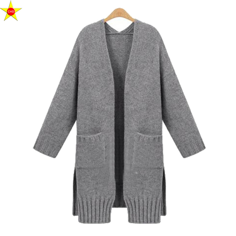 XL 5XL Plus Size Women Casual Sweater New 2019 Autumn Winter Fashion Loose Knitted Cardigans Sweater Open Stitch Elegant Sweater-in Cardigans from Women's Clothing    2