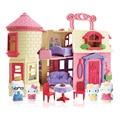 Фирменные Игрушки Европейский стиль Castal Вилла для Hello Kitty Кошка Кукла дом Мечтательный Кукольный Лучший Подарок и Претендует Игрушки для Девочки