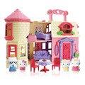 Brinquedos de marca estilo Europeu Villa Castal para Olá Gatinho Gato Boneca casa de Sonho casa de Bonecas Melhor Presente e Fingir Jogar Brinquedos para Menina