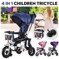 4 в 1 детская коляска на колесиках, велосипеды для детей, трицикл, велосипед с теневой крышкой для детей 1 3 лет