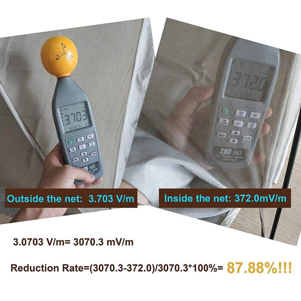 Blosilver alta protección EMF Wifi radiación escudo cama dosel (Rey)-in Red mosquitera from Hogar y Mascotas    2