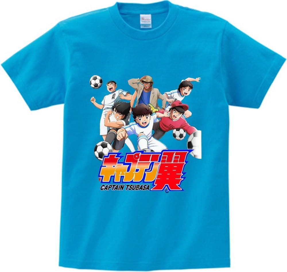 Anime Captain Tsubasa T Shirt Children Leisure Short Sleeve t shirt Boy Football motion T-shirts For Boys Girls 3T-8T NN 2