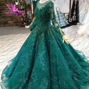 Image 2 - Aijingyu vestidos de luxo com jóias loja vestidos para casamento muçulmano federação russa plain mais noivado vestido de casamento taiwan
