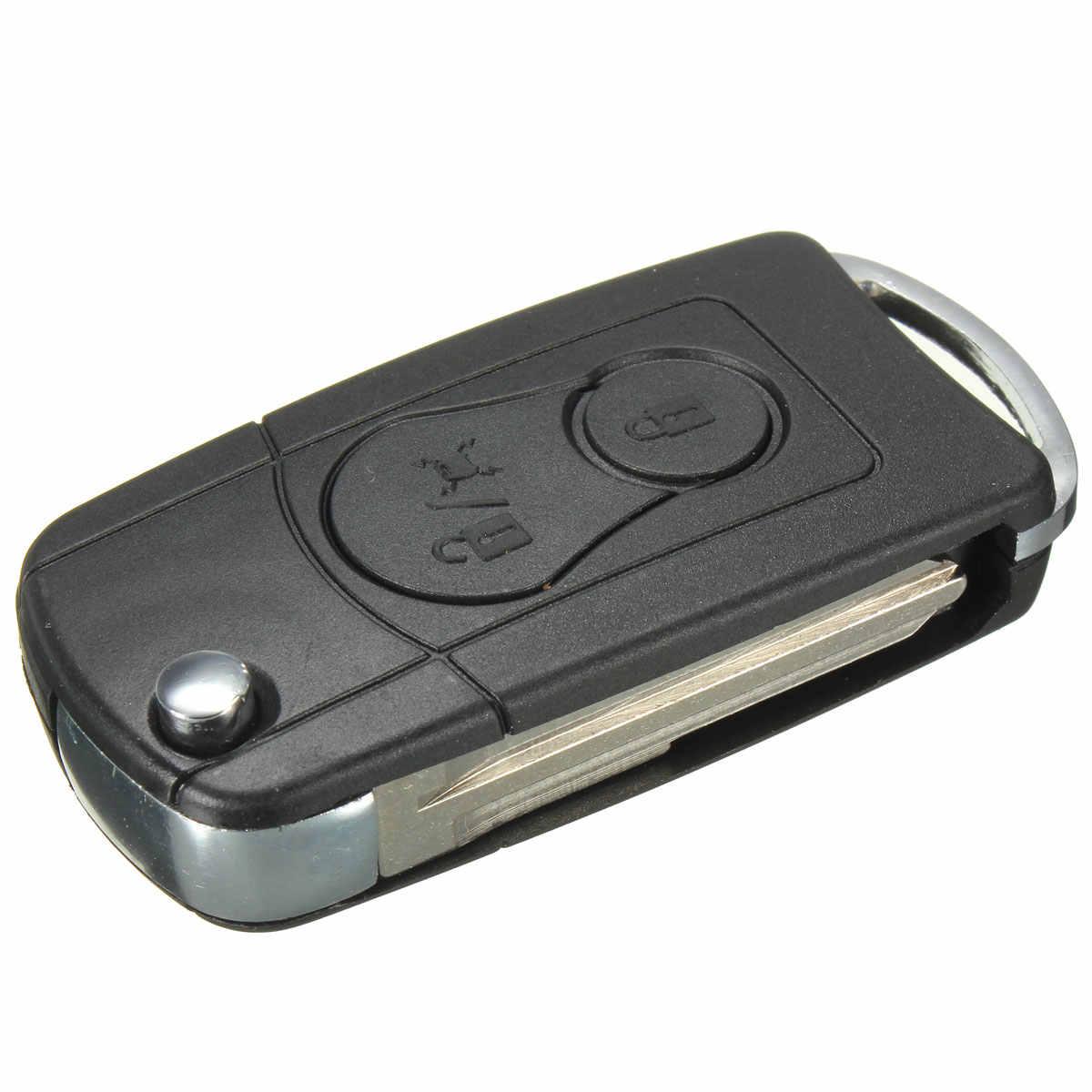 Mando a distancia plegable funda para llave de coche Fob para Ssangyong Actyon SUV Kyron 2 botones No Logo