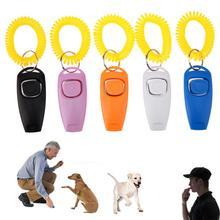 Кликер для собак, тренировочный кликер для питомцев, собак, кошек, тренировочные свистки, брелок для ключей и ремешок на запястье, товары для обучения домашних животных