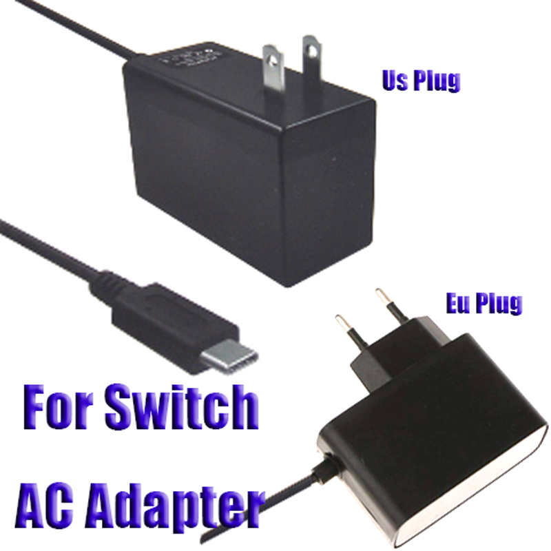 EU Plug Wall Travel 2.4A Charge AC Adapter Charger For Nintend Switch NS Game Console USB Type C Power Supply Charging Accessory