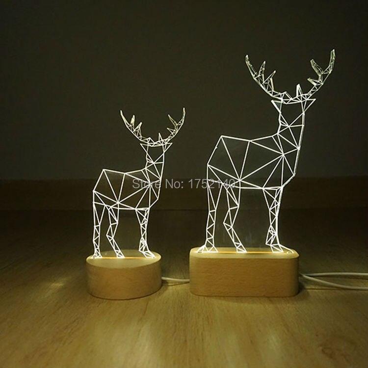 Новинка, диммируемая настольная лампа из древесного плексигласа, ночник, свет для украшения, подарок на день рождения, 110В 220В по всему миру