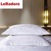 LeRadore Customize 100% Satin Cotton 5cm Floral Hotel Pillow Case White Rectangle Pillowcase Bedding Pillow Cover50x80cm/55x85cm