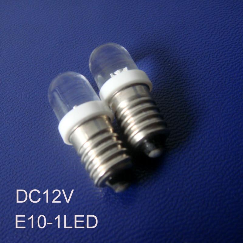 High quality 12V E10 led indicator Lights,Car E10 led instrument lights,LED E10 Pilot lamp,E10 led 12v free shipping 500pcs/lot